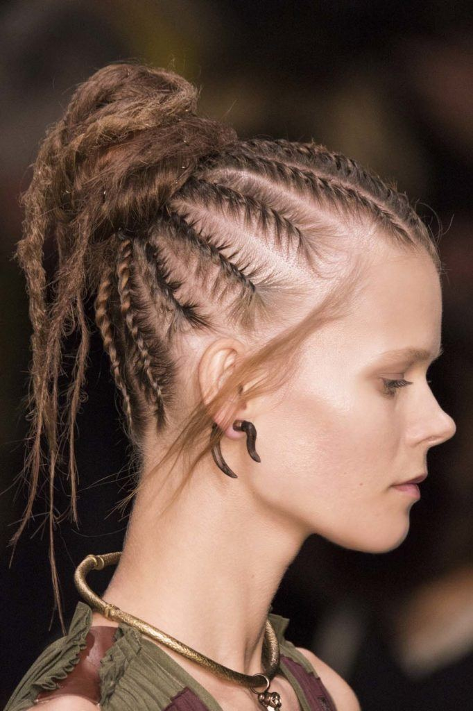 sparse braided updos for long hair
