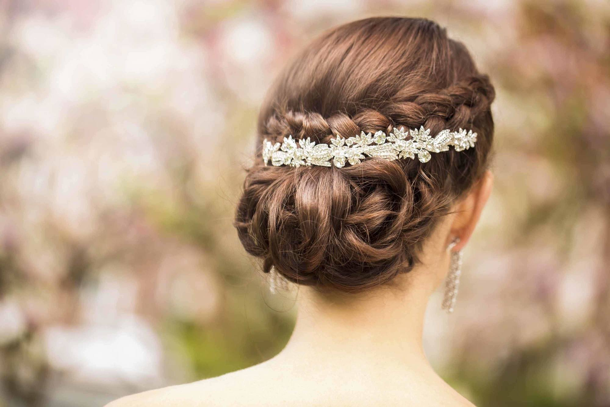 bejeweled braided updos for long hair