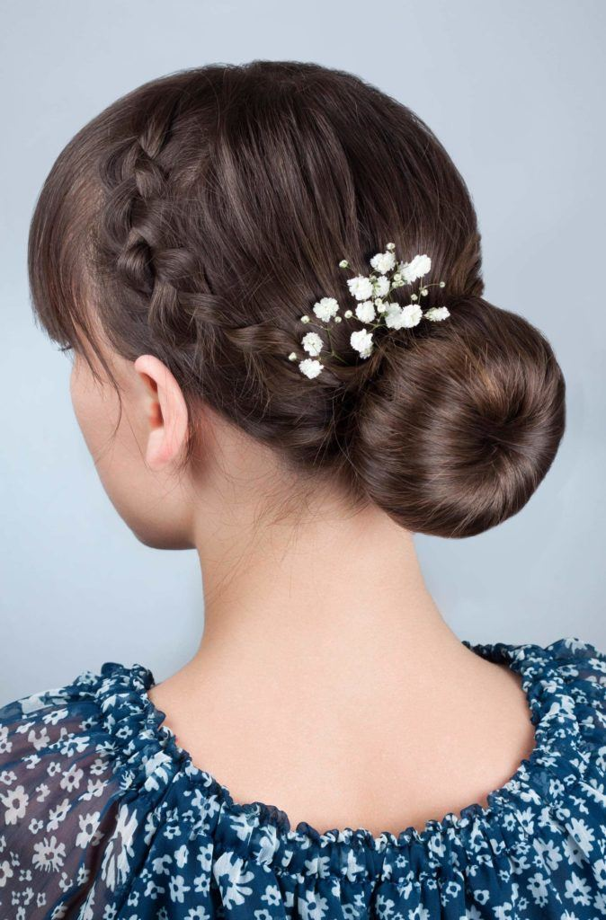low braided updos for long hair