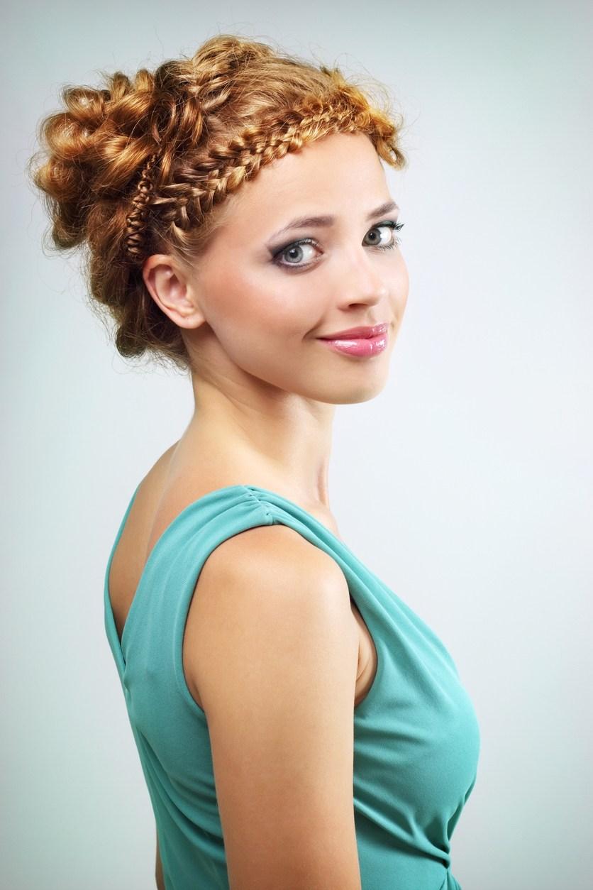 curly braids: dutch braid