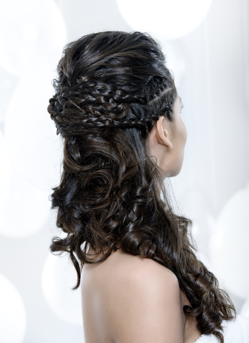 curly braids half ups