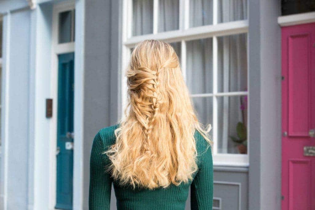 curly braids: funky braid