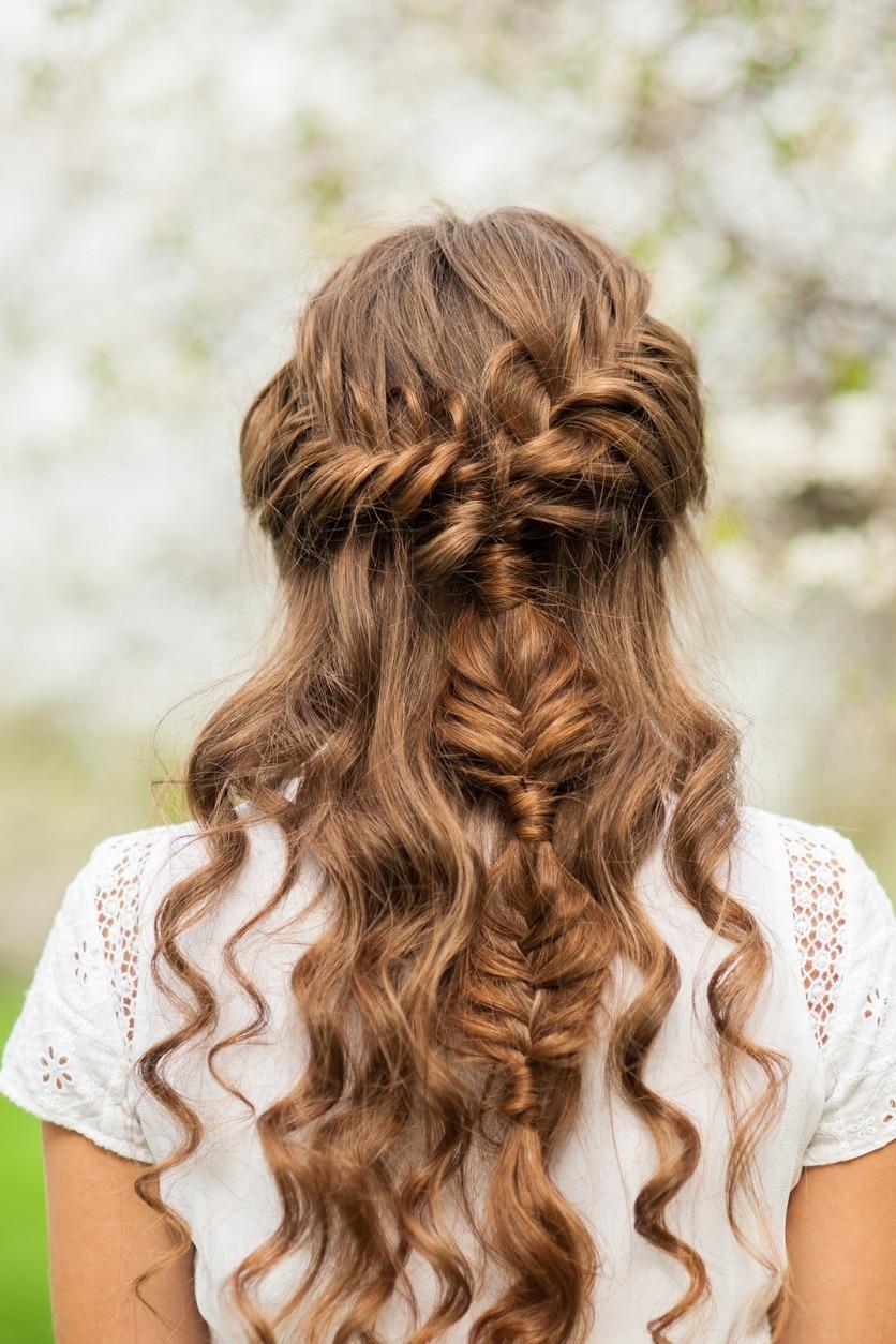 curly braids: mix braids