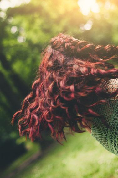 curly braids on wavy red hair