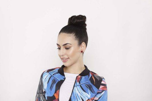 gym hairstyles for curling hair high ballerina knotted bun