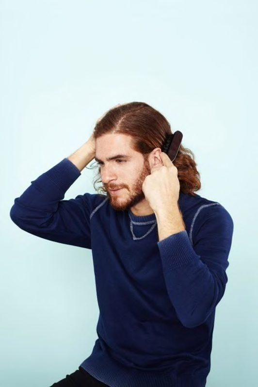 how to do a man bun: brush your hair