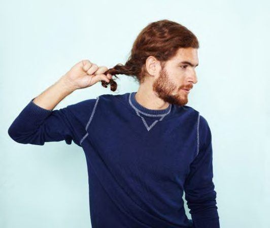 how to do a man bun into a twisted hairstyle