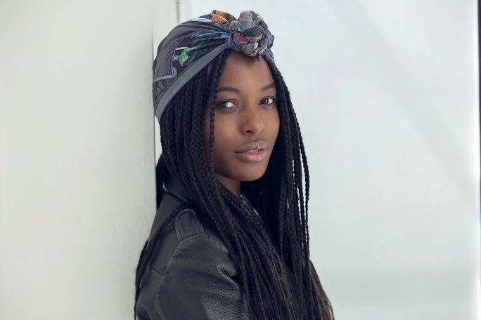 how to do box braids with a wrap