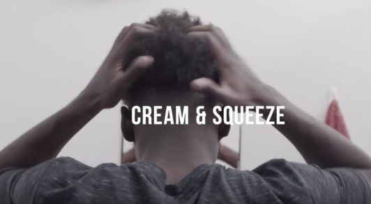 afro fade: apply softening cream