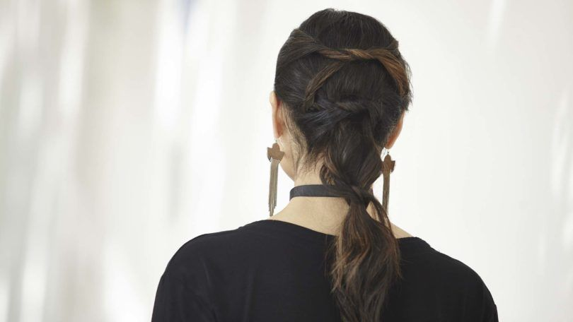 knotted ponytail back view final look
