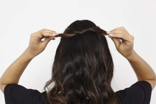 knotted ponytail tie hair
