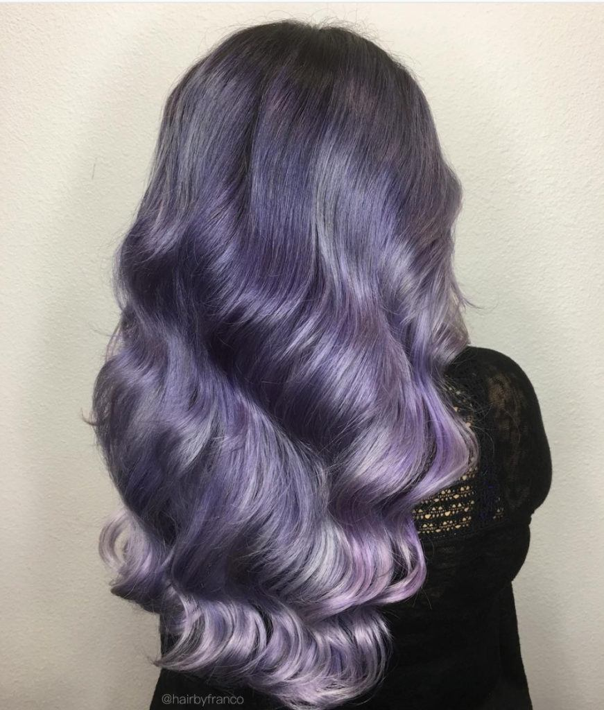 grayish purple hair gradient