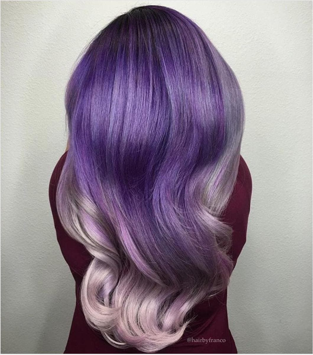 lilac and purple hair waves