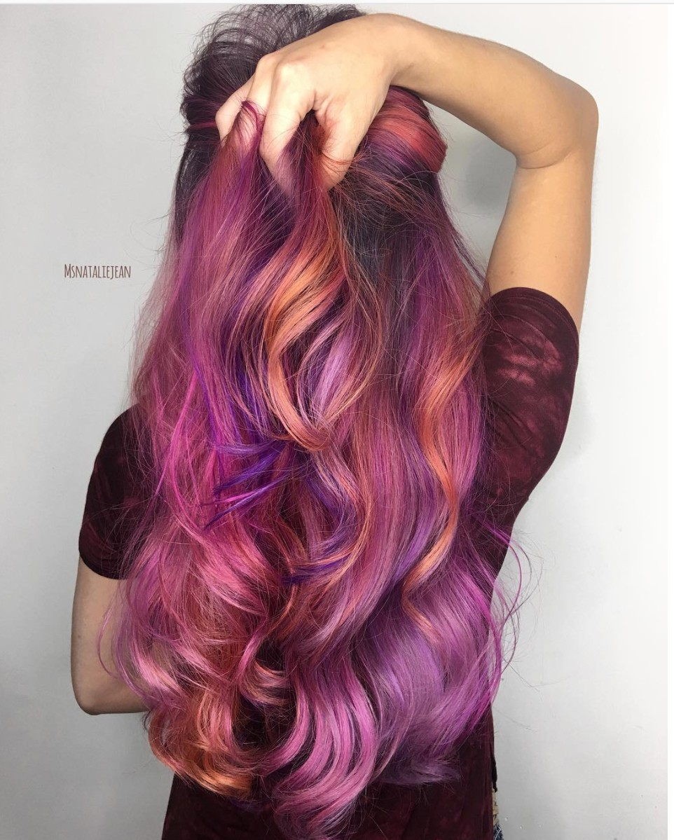 tropical purple hair