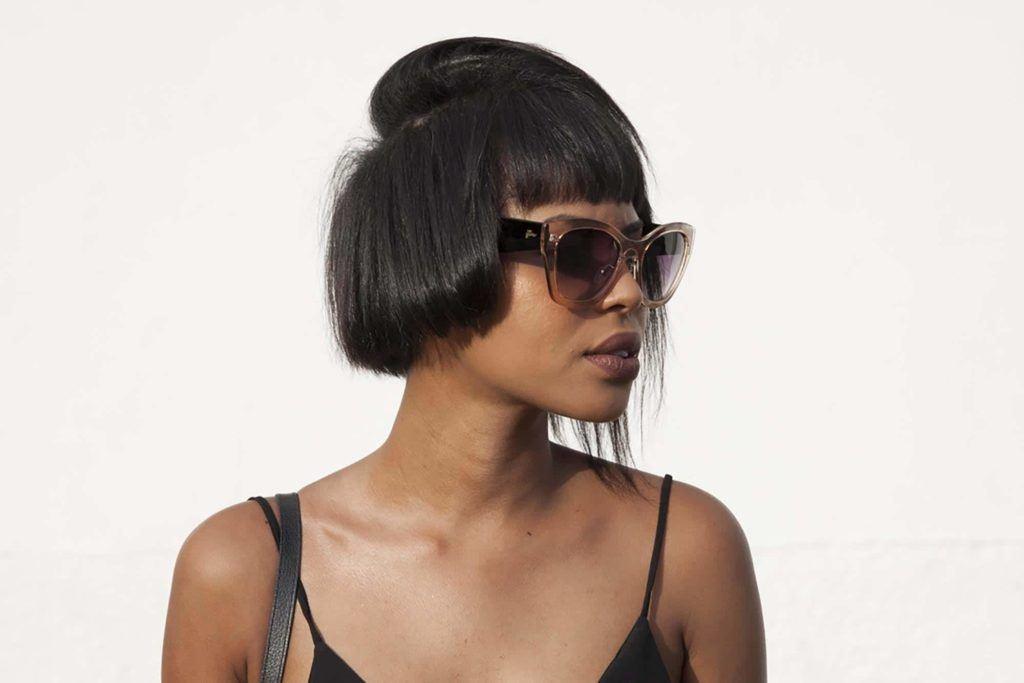 short choppy hairstyles with an asymmertic bob