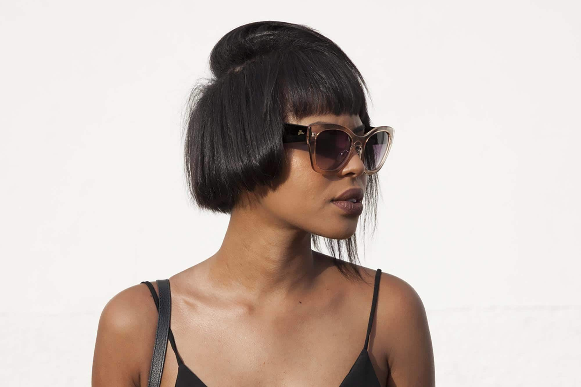 short choppy hairstyles with an asymmertic bob