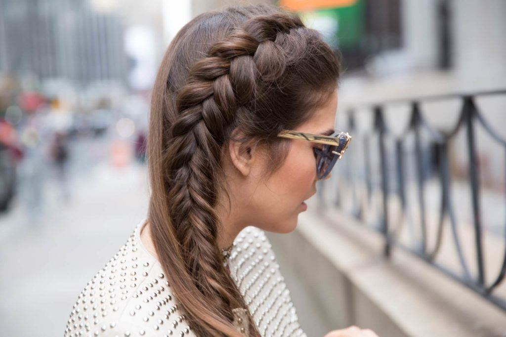 side braids french braid