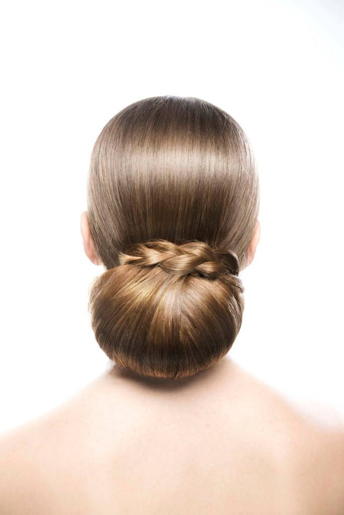 wedding braids low bun three strand braid