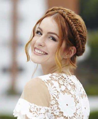 wedding braids with a fishtail braid