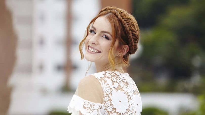 wedding braids with a fishtail braid