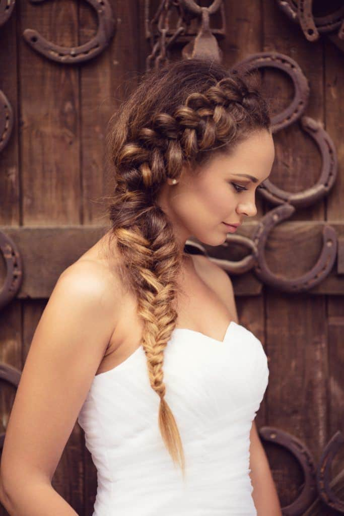 wedding braids dutch braid and fishtail braid