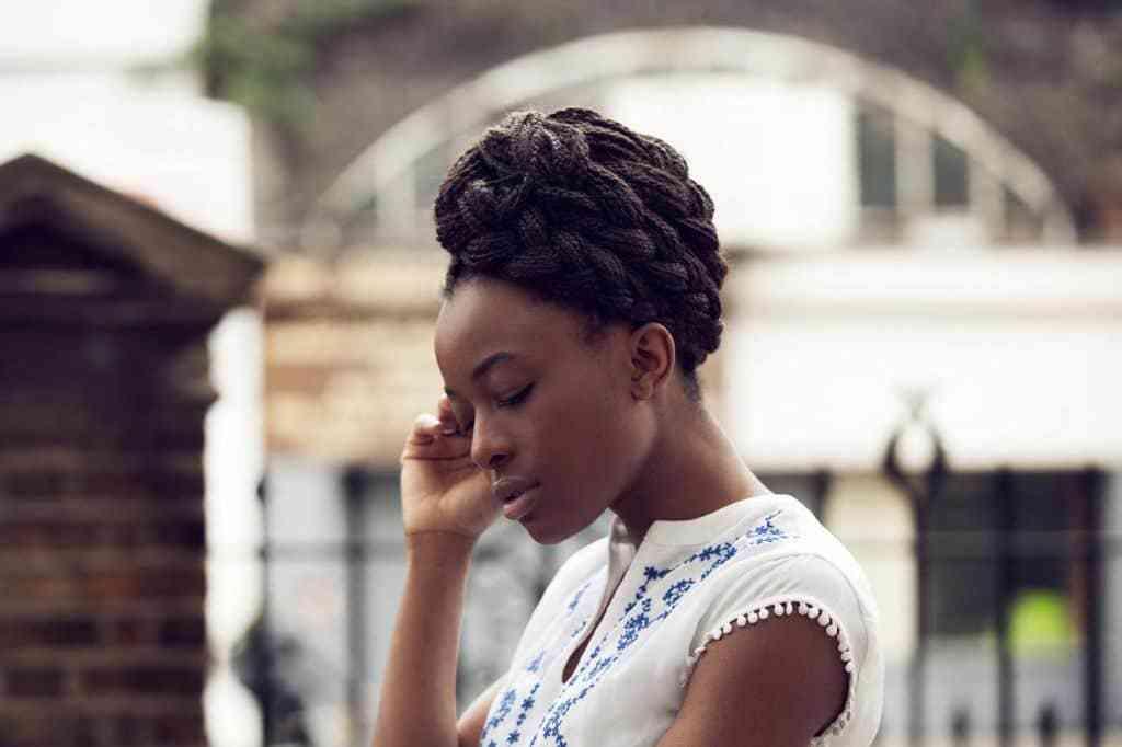 african american hairstyles box braid updo