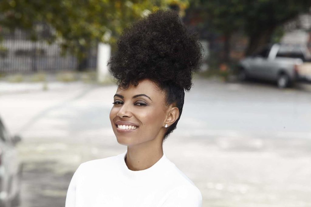 afro hairstyles with an updo