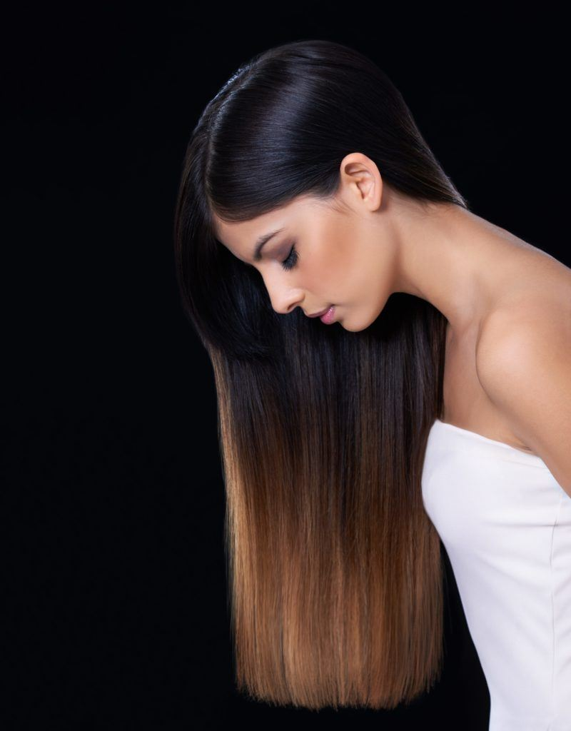 balayage straight hair long gradual transition