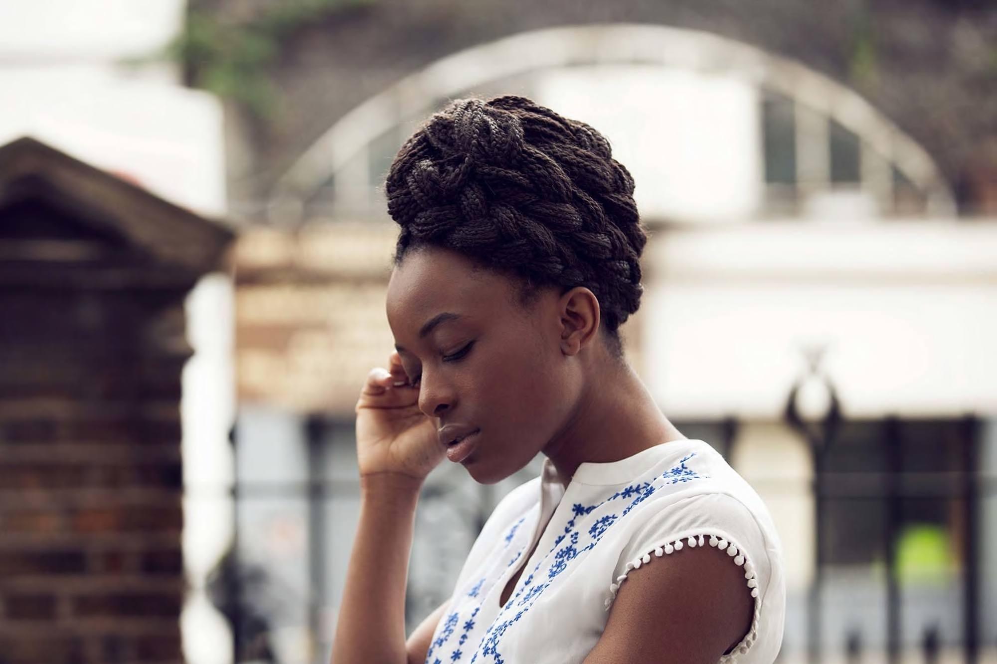beach wedding hairstyles with box braids