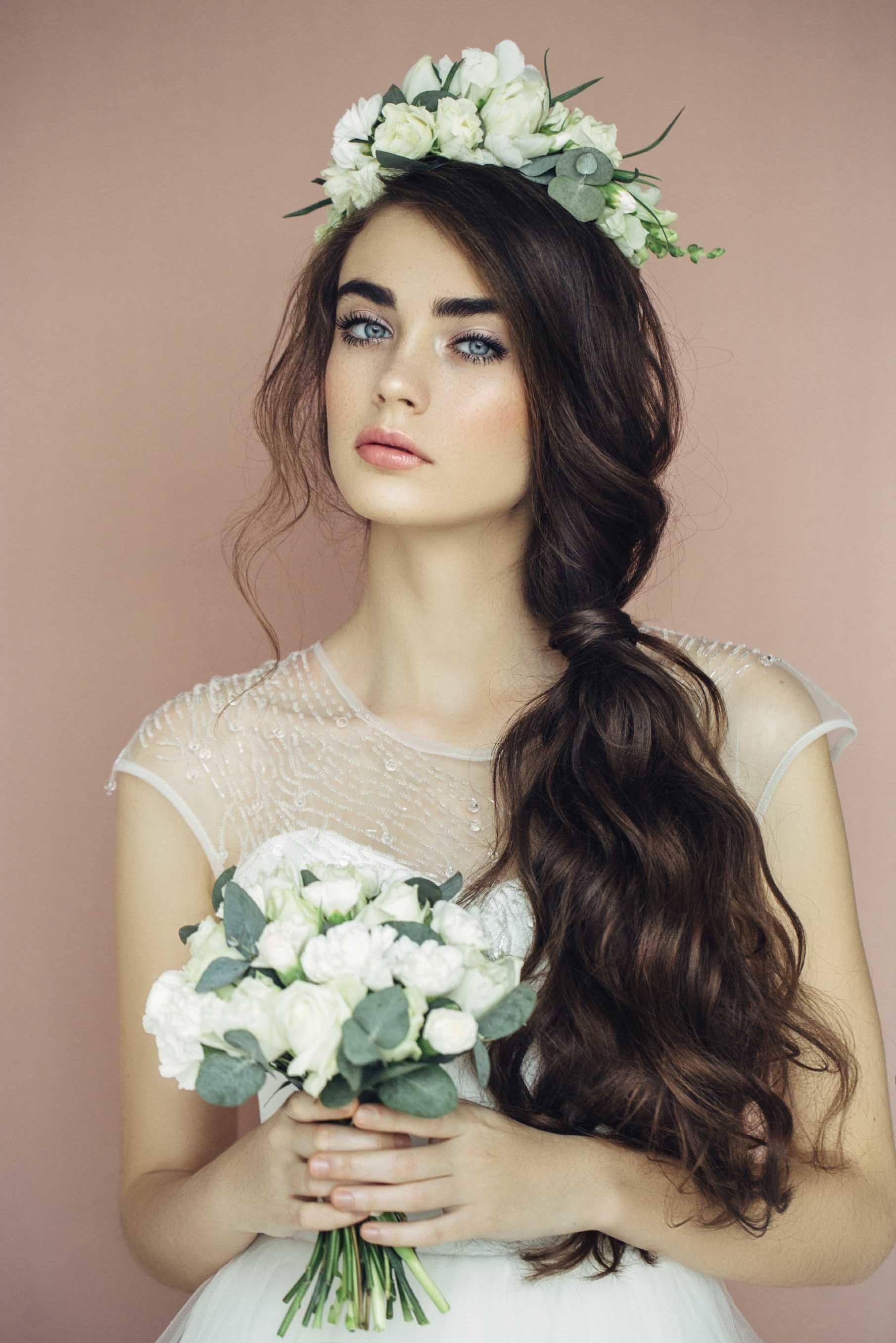 beach wedding hairstyles on long hair