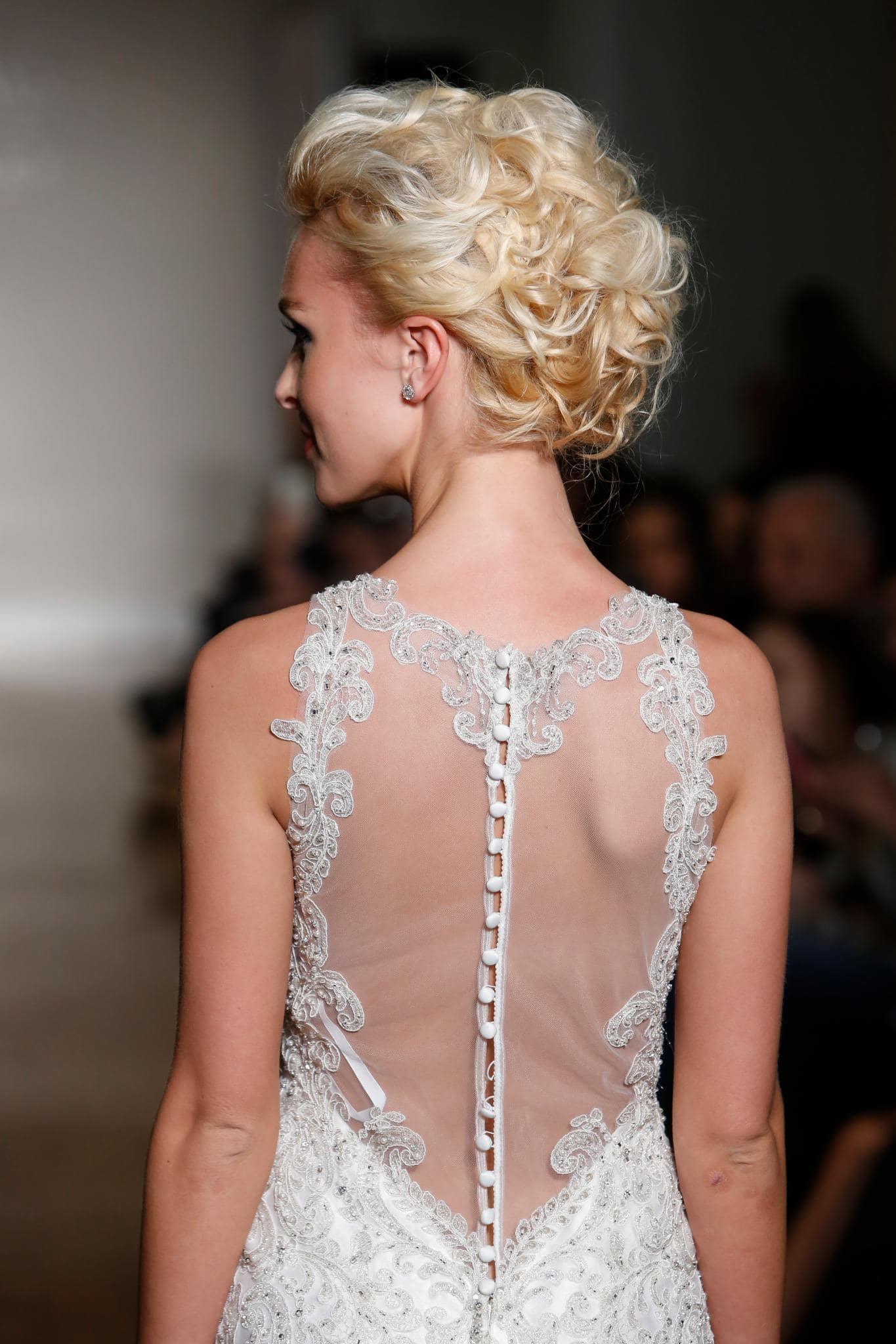 curly updo bridal hairstyles