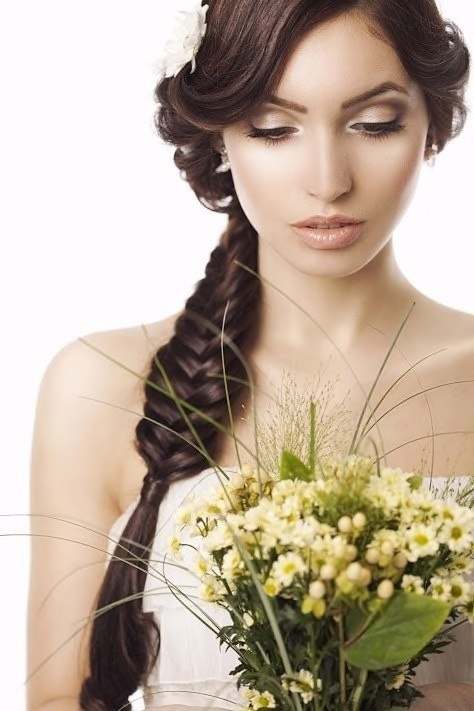 classic fishtail bridal hairstyles
