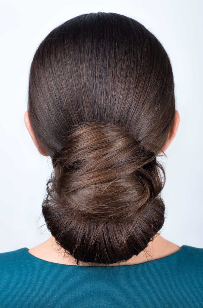 wrapped chignon bridesmaid hairstyles
