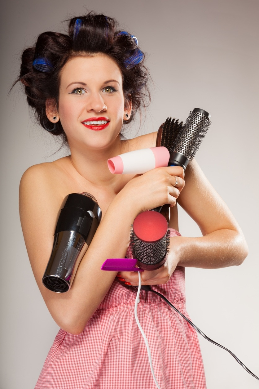 curling brush with other tools
