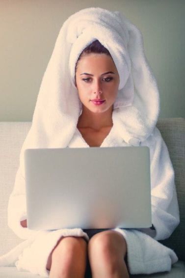 hair mask with coconut oil woman in towel