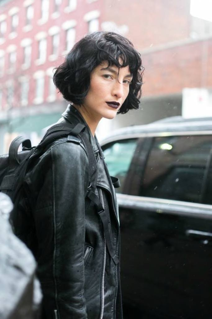 short black hair with waves