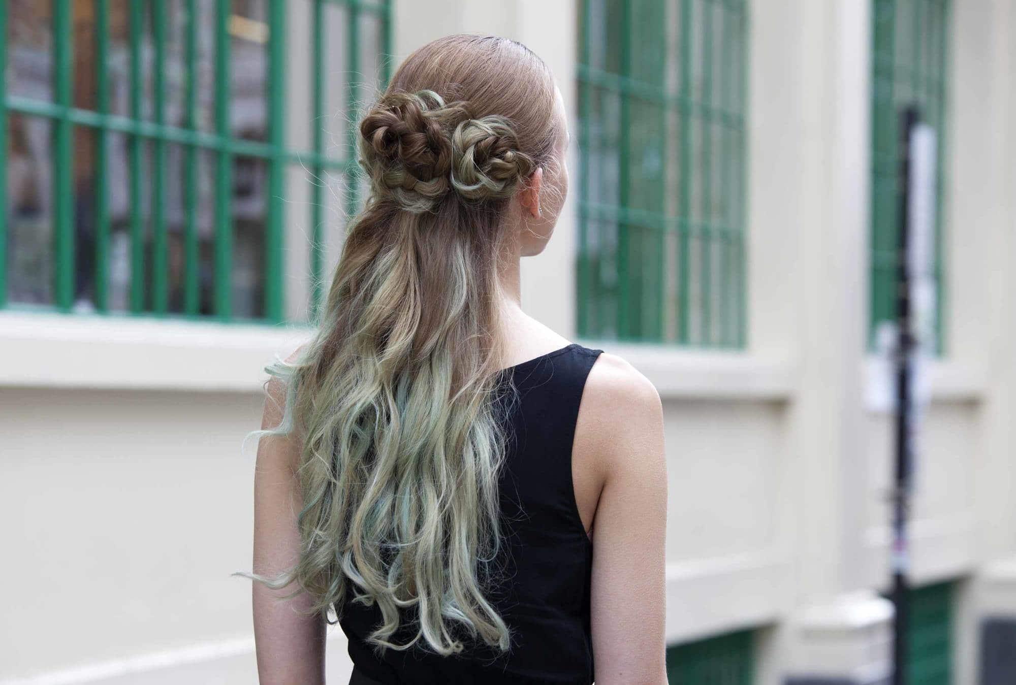 spring hair colors sea foam green