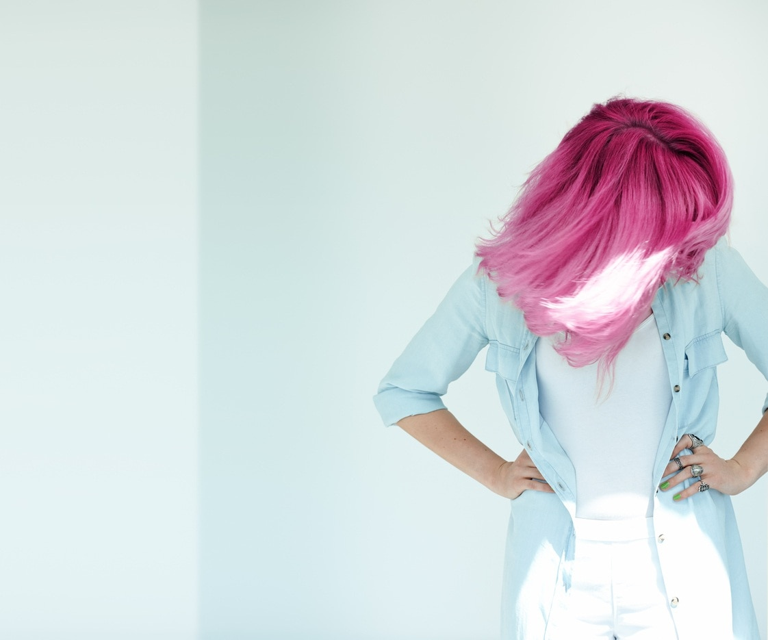 spring hair colors pink ombre