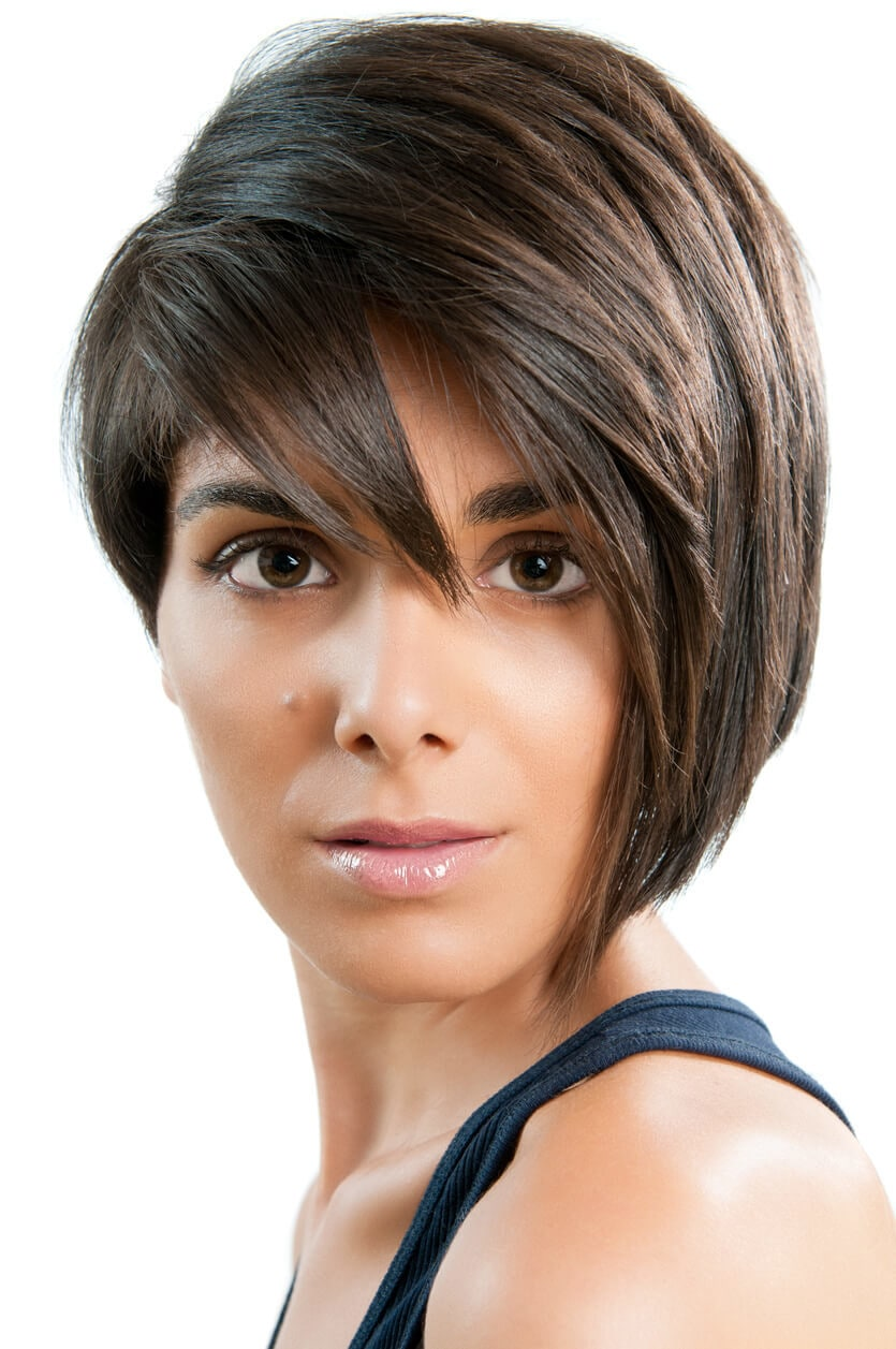 Asymmetrical Cut side pixie