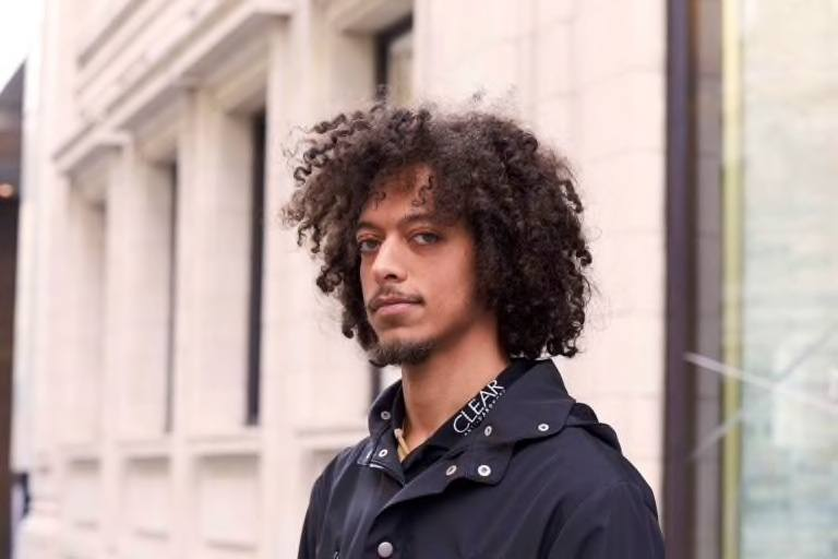 curly afro black men haircuts