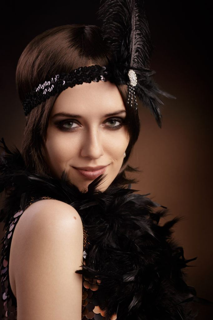 Flapper Hairstyles back to post flapper hairstyles for long hair Flapper Headband