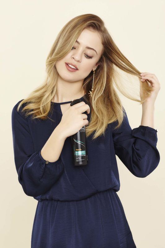 pre-styler for a high ponytail