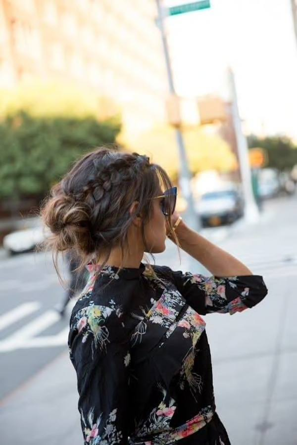 messy braid bun hairstyles