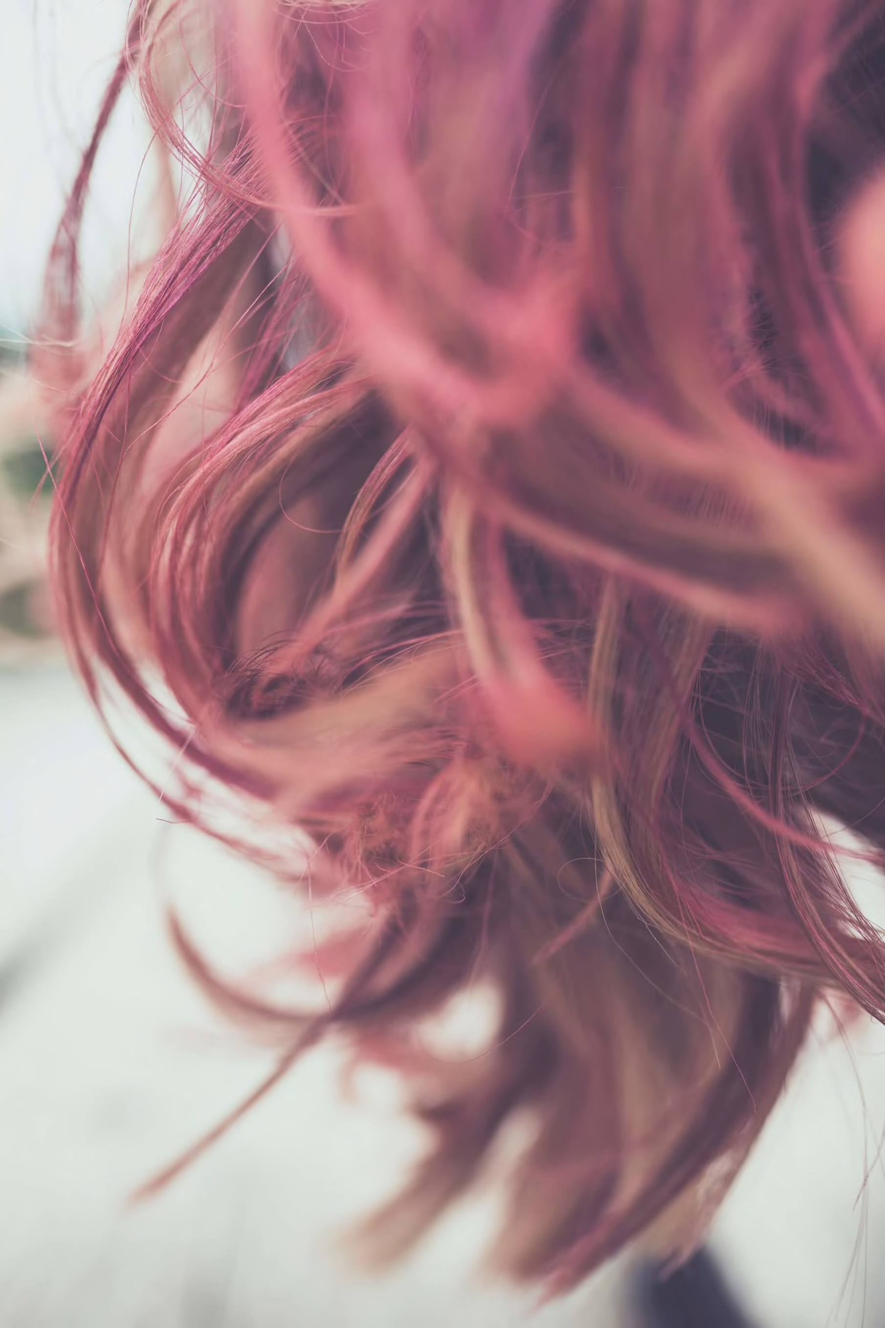 pink rose balayage hair