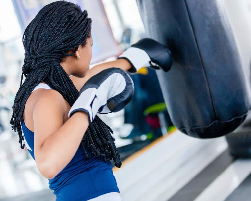 how to care for relaxed hair health: workout protective style
