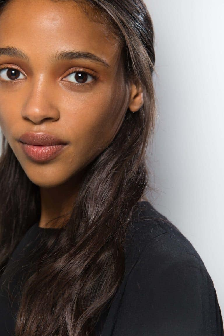 relaxed hair health: half-up hairstyle