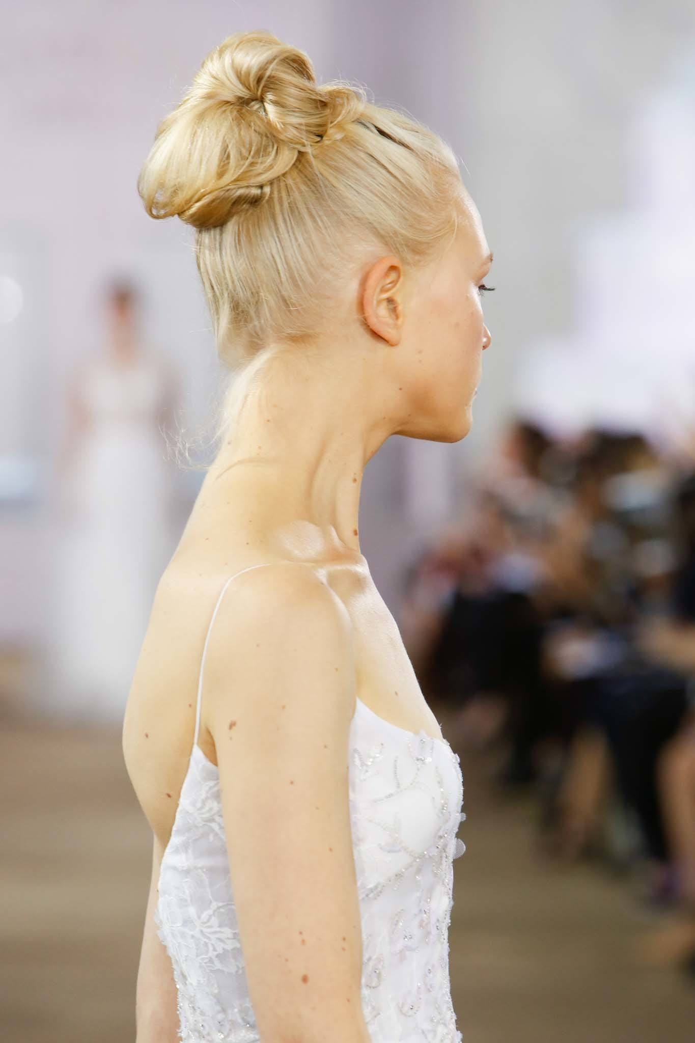 simple wedding hairstyles bumper bun