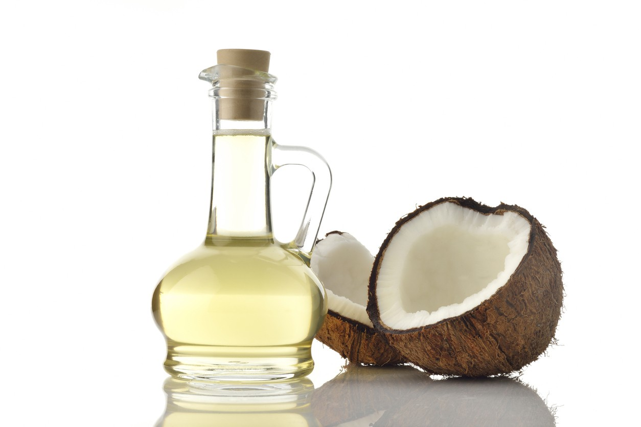 home remedies for dry and damaged hair: coconut oil for black hair