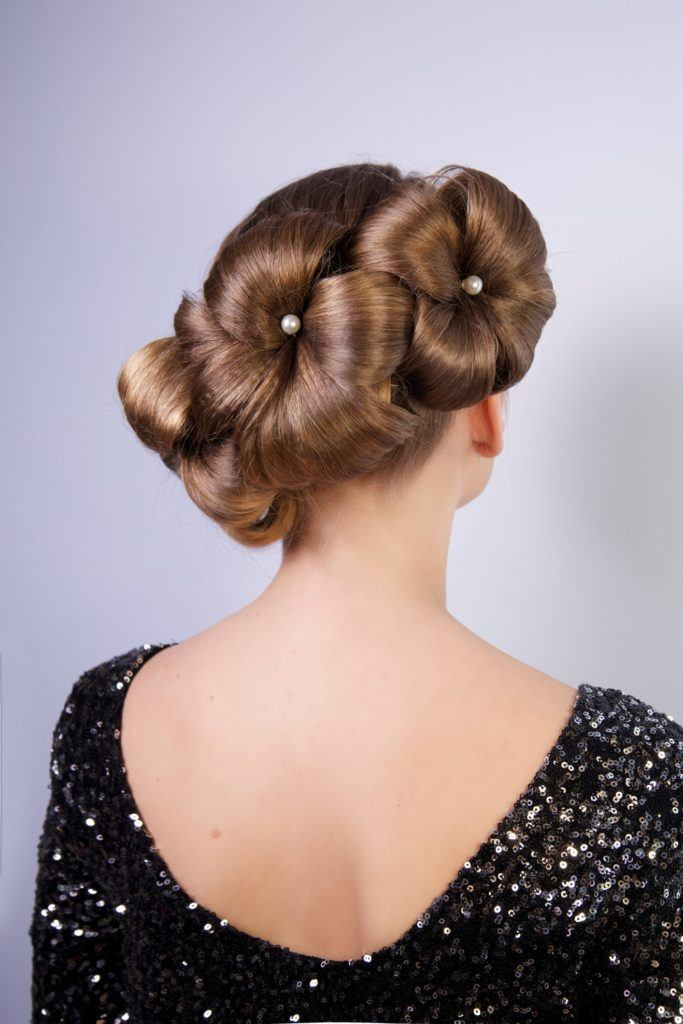 Flower Updo Romantic And Elegant Ideas For Your Hair