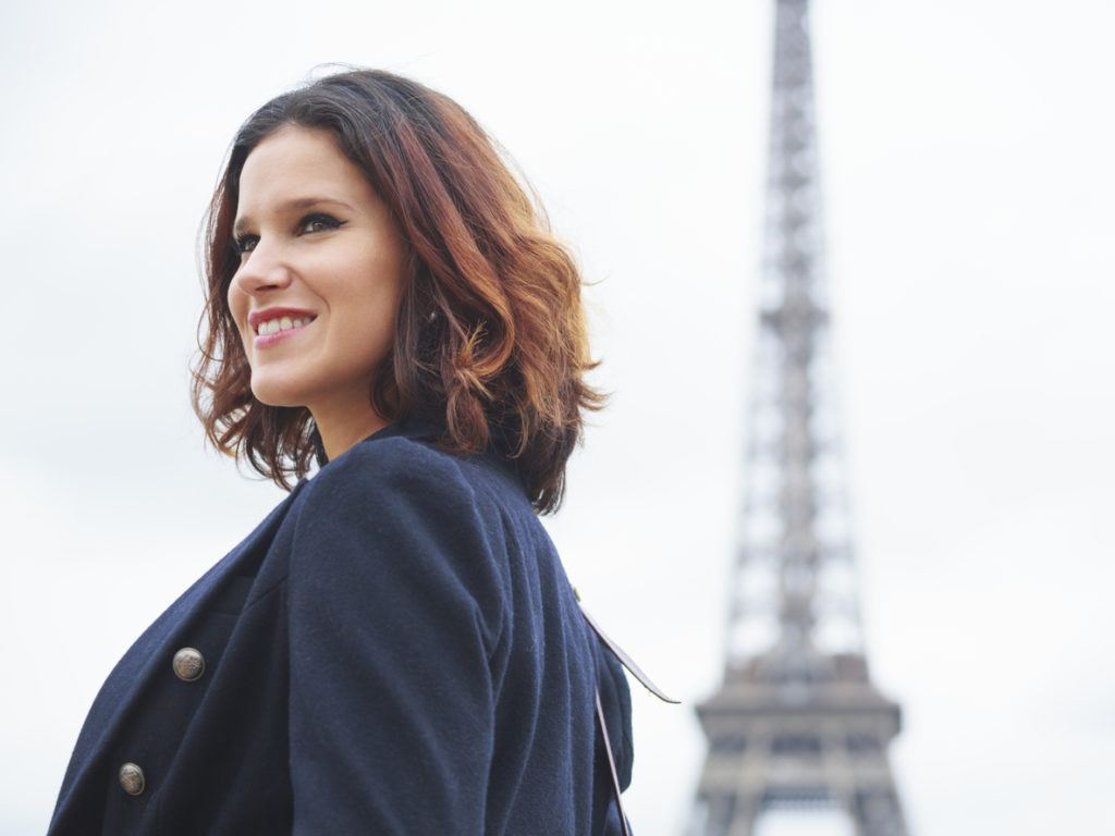 french hairstyles: ombré bob